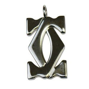 Cartier Necklace Top Metal Pendant Only (Silver)